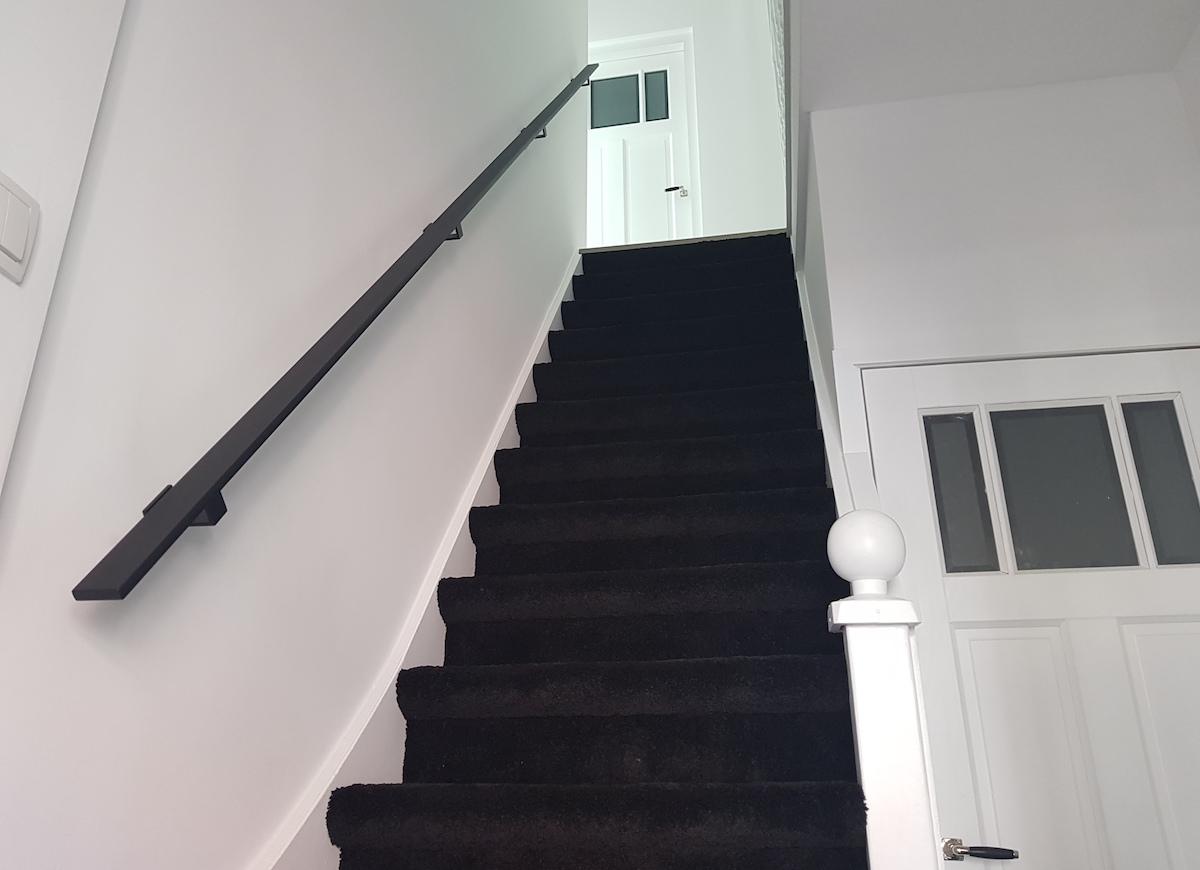 Zwarte Stalen Trapleuning : Stalen trapleuning mat zwart bd rvs designs